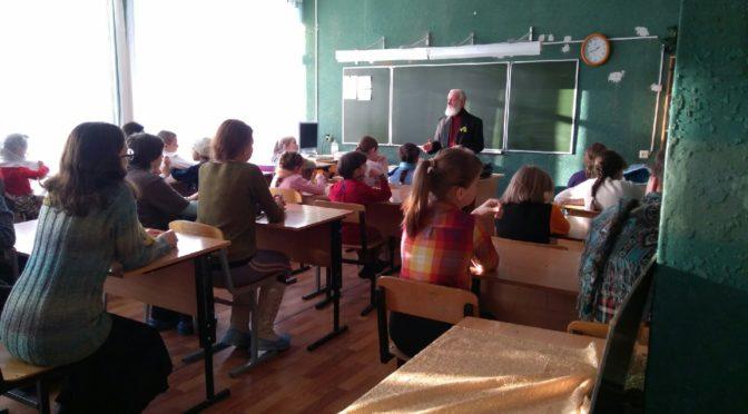 Встреча учеников Воскресной школы с жителем блокадного Ленинграда