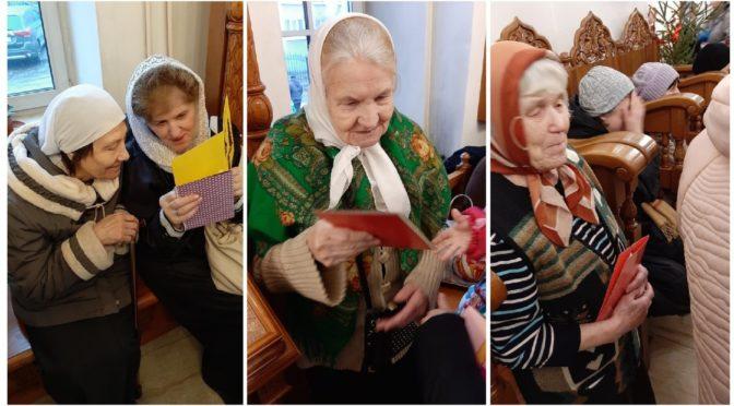 Родительский клуб поздравил пожилых прихожан с Рождеством Христовым!