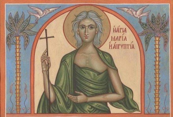 Преподобная Мария Египетская .