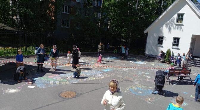 30 мая после поздней литургии прошел конкурс детского рисунка