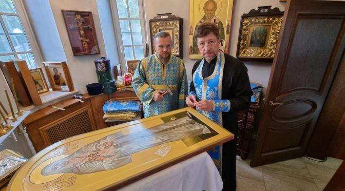 Нашему храму была передана частица мощей святой великой княгини Елизаветы Феодоровны